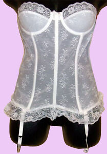 NEW old factory stock Lady Marlene LACE CORSET with GARTER BELT size ... 09ef3cd62