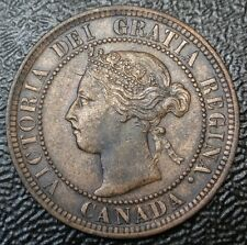 OLD CANADIAN COIN 1900 - ONE CENT - LARGE CENT - Victoria - Nice KEY DATE