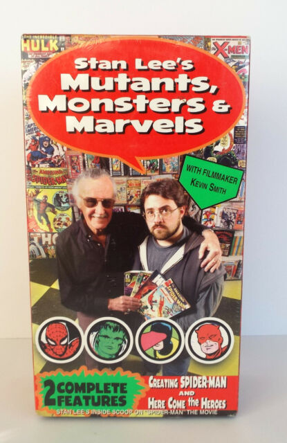 STAN LEE'S Mutant's Marvels' and Monsters Double VHS Sealed Pack 2002