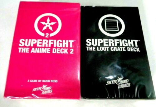 Superfight The Anime Duel Deck 2 /& Loot Crate Skybound Party Card Games Lot of 2