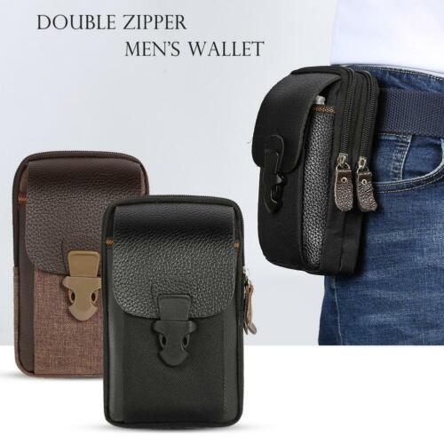 Men Waist Bags Small Mini Card Holder 6 inch Phone Packs Belt Fanny Zip Purse