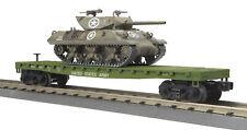 MTH RAILKING 30-76745 US Army Flat Car With Wolverine Tank O Gauge Trains