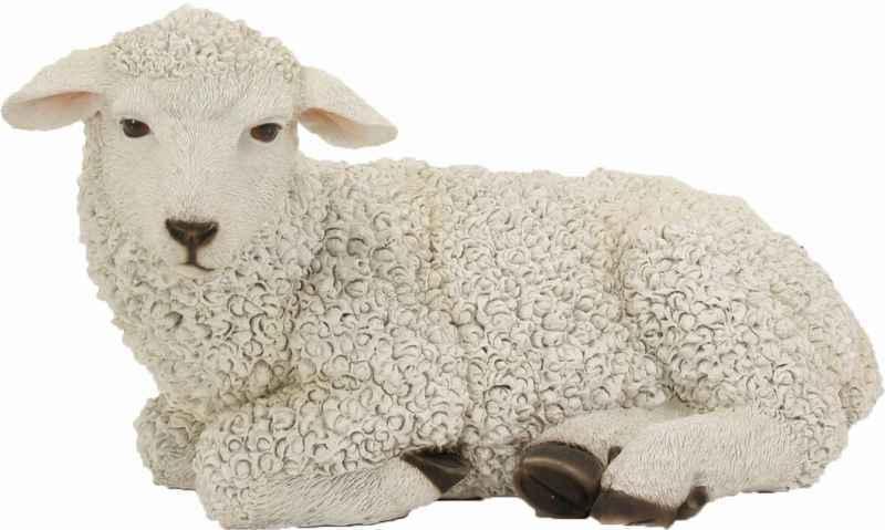 Tiere Schafe Krippenfiguren Schaf liegend Höhe ca. 20cm