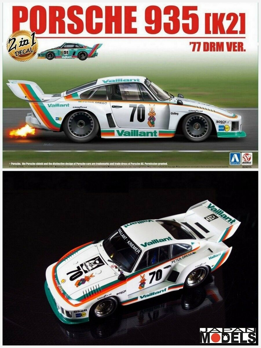 barato PORSCHE 935 K21 '77 DRM VER. 2 in in in 1 Decal Aoshima Beemax NO.20 1 24 Model Kit  saludable