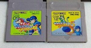 Nintendo-Gameboy-Rockman-World-4-amp-5-set-Mega-man-Japan-GB