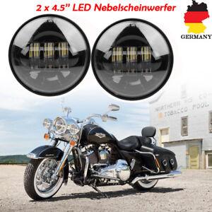 Paar-4-5-034-Zoll-LED-Nebelscheinwerfer-Zusatzscheinwerfer-Tagfahrlicht-fuer-Harley