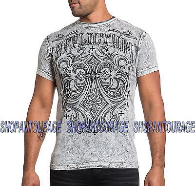 AFFLICTION Ironside A15825 Men`s New Reversible White/Black T-shirt