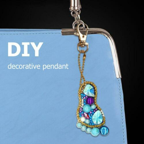 DIY Full Drill Diamond Painting Key Chains Keyring Keychains Key Rings Handmade