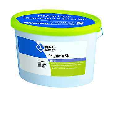 Klug Sigma Polysatin Sm 12,5 Liter Hochwertige,seidenmatte Kunststoffdispersionsfarbe Fassade