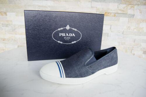 Mocassins Denim € Slipschoenen New 41 Loafers Blue Form Prada 420 7 Uvp NwOP8nX0k