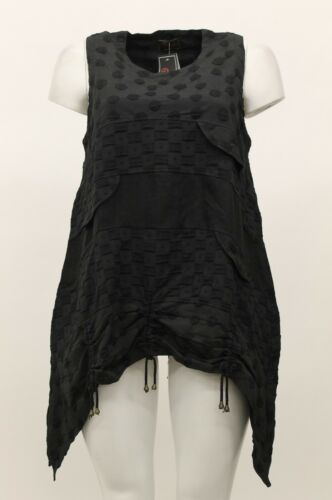 asimmetrica cappuccio asimmetrico senza donna Maglia Nero da con donna con maniche Sz da motivo 1 Prisa IwqTzzxE