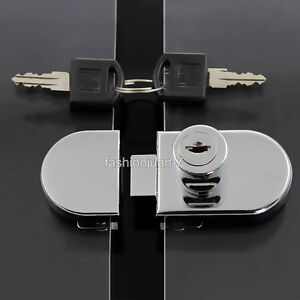 Details about 5Sets Double/Single Glass Cabinet Door Locks Shopping Malls  Display Cabinet Lock
