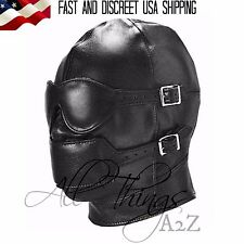 High Quality Gimp Hood Sensory Deprivation Blindfold Adjustable Ball Gag BDSM
