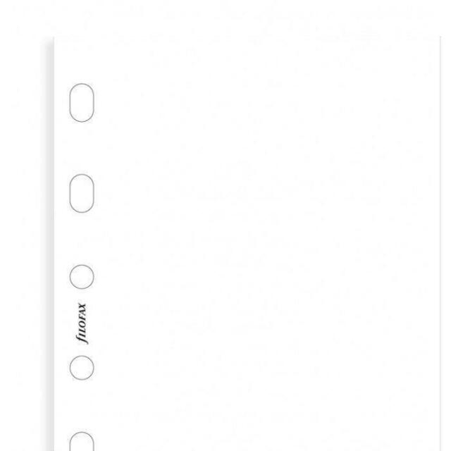 Filofax Einlage Pocket blanko weiße Notizblätter