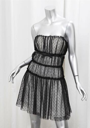 jurk 10 Gabbana 46 Dolce mouwloze Pois Womens transparante zwart witte zxSOwOf7q0