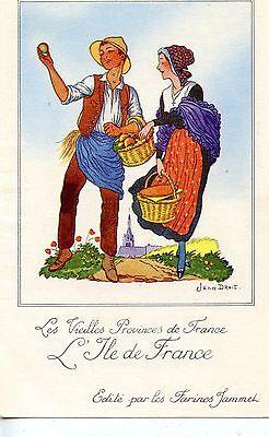 CARTE CHROMO PUB //JEAN DROIT LA LORRAINE LES VIEILLES PROVINCES DE FRANCE