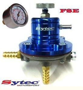 FSE-Adjustable-Fuel-Pressure-Regulator-1-5-bar-Blue-amp-Gauge-Sytec-SAR001