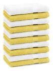 Betz Set di 10 lavette Premium misura 30 x 30 cm 100% cotone colore giallo e bia