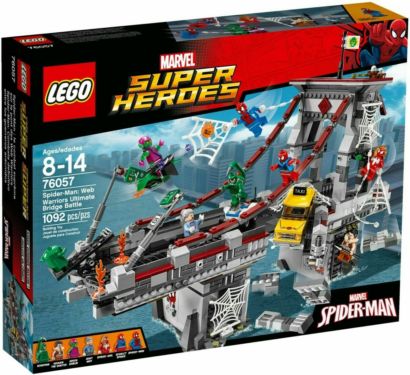 Marvel Spider Man Bridge Battle - Lego 76057 - Sealed Box - 1092 Pieces -Retirojo