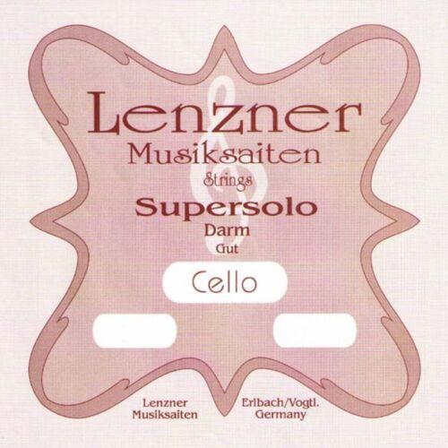 Cello GUT Strings SET Lenzner 1220D SUPERSOLO 4//4 Violoncello DARM Saiten SATZ