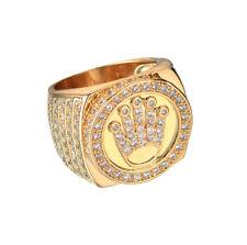 Elvis Presley TCB Concert LAB Austrian Crystal Gold Plated S.8-11 Mens Ring