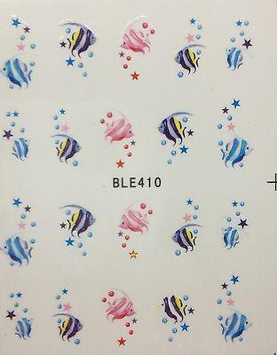 Edle,hochwertige Tattoos Sticker filigran UNTERWASSER Fische BLE-410