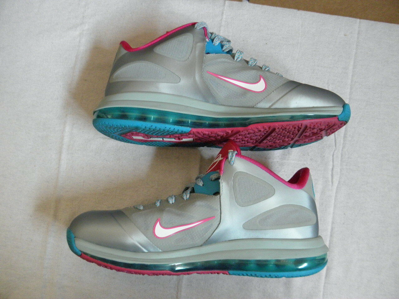 Nike Air Max Max Max LeBron IX 9 Nine Low Fireberry silver pink blue Union sz 10.5 VNDS 6c780a