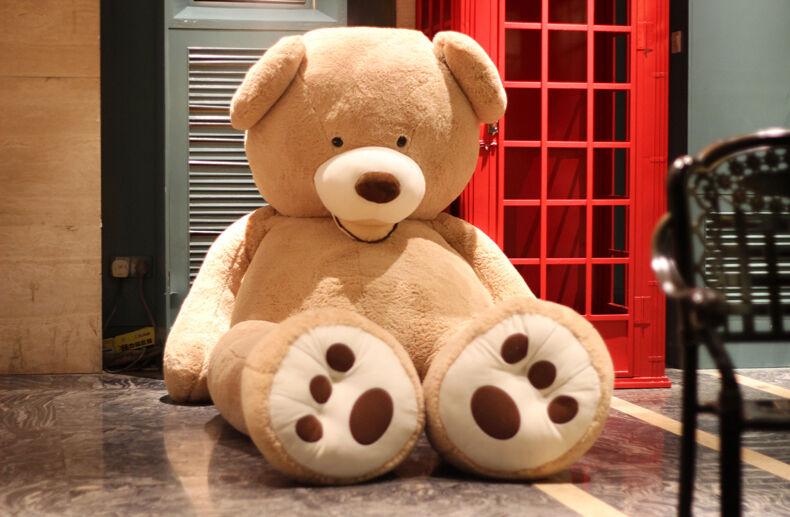 REGNO Unito ENORME GRANDE JUMBO Teddy Bear Farcito Peluche Animali Hugfun Giocattolo Bambola 8 piedi 93
