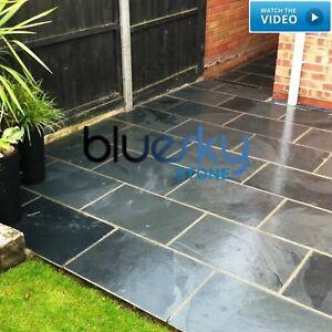 image is loading black slate paving amp garden tiles not slabs - Garden Tiles