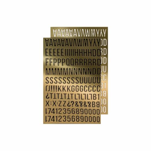 Tim Holtz Idea-ology GOLD ALPHA Metallic Stickers Paperie TH93560  2017