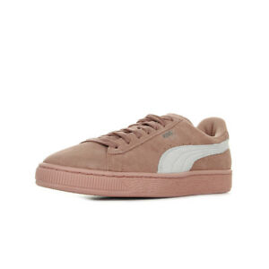ebe2ab167281d Chaussures Baskets Puma femme Suede Classic W s taille Rose Cuir ...