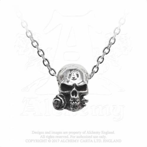 Gothic Alchemist Batcave Totenkopf Anhänger Halskette Skull Amulett ALCHEMY P815