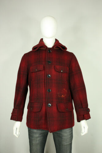 Vintage wool Mackinaw jacket L 40's plaid hunting