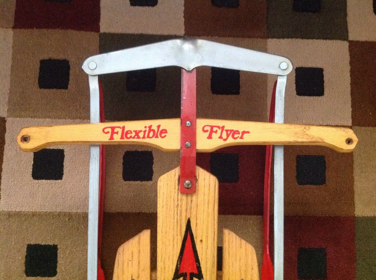 Vintage Snow Winter Flexible Flyer Wood And Metal Sled Sled Sled Model F048 136319