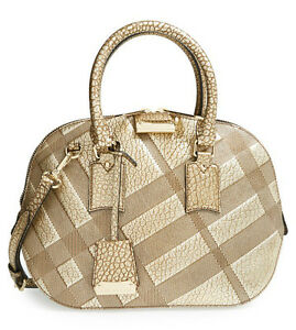 adfd90c67518 Image is loading NEW-1995-Burberry-Small-Orchard-Leather-Metallic-Gold-