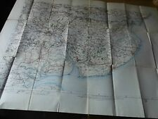COLCHESTER CLACTON,HARWICH MERSEY-NORTH ESSEX- ELECTROTYPE ANTIQUE MAP 1904-14