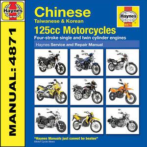 Chinese-Taiwanese-and-Korean-125-cc-Motorcycles-Haynes-Manual-4871-NEW