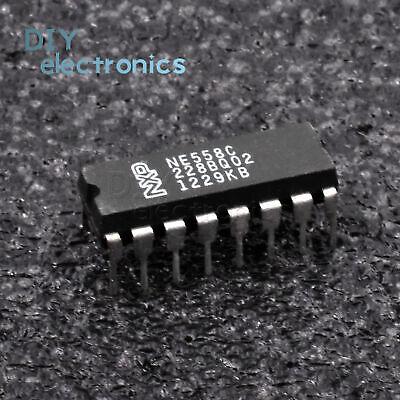 5PCS SIGNETICS NE558N DIP-16 IC