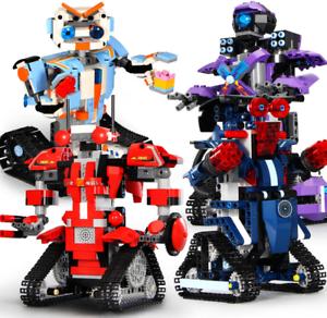 Bausteine-Fernbedienung-Roboter-Robert-Klug-Spielzeug-Geschenk-Modell-Kind