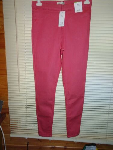 M/&S Pink High Rise Flexfit Jeggings Jeans *Size 10L* BNWT **NEW**
