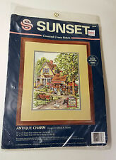 Sunset ANTIQUE CHARM Counted Cross Stitch Kit #13608 Siurek 1995 Sealed RARE New