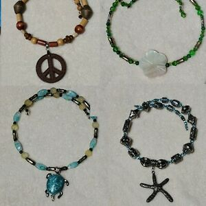 New-Summer-Fashion-Choker-Necklace-Blue-Turtle-Peace-Sign-Starfish-Hibiscus