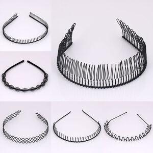 Unisex-Men-Women-Black-Metal-Hair-Hoop-Headband-Hairpins-Hairband-Accessories