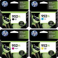 4-pack Hp Genuine 952xl Black & Color Ink (no Retail Box) For Officejet Pro 8730