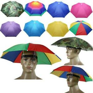 Sonnenschirm Hut Damen/Herren Regenschirm Mütze Kopfbedeckung Fischer Anglerhuts
