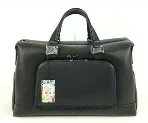 Details About 498 Robert Graham Black Pirro Faux Leather Weekender Travel Duffle Bag New