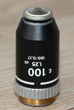 Nikon Mikroskop Microscope Objektiv E 100/1,25 Oil