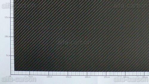 2mm Carbon Platte Kohlefaser CFK Platte ca 400mm x 250mm