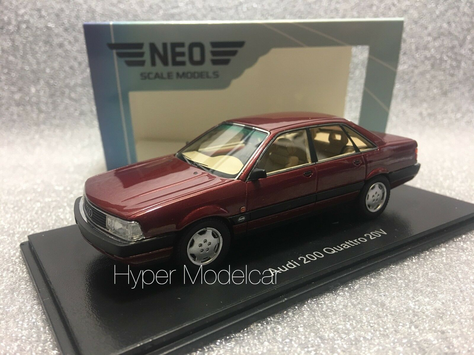 NEO SCALE MODELS 1/43 Audi 200 Quattro 20V 1990 rosso Met. Art. 43039