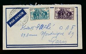 French-cameroun-militaire-WW2-censor-airmail-elephants-oblitere